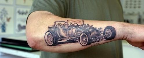 tatouage voiture vintage