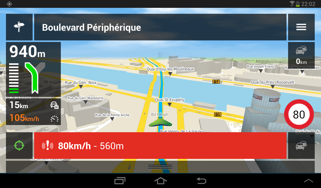 carte radar pour gps mappy