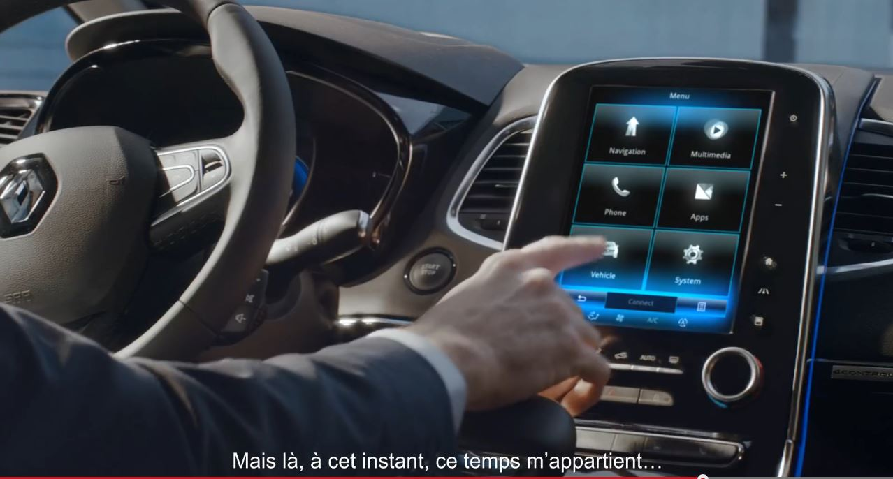 renault espace 5 la pub vid o avec kevin spacey legipermis. Black Bedroom Furniture Sets. Home Design Ideas