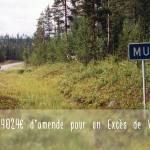 54024 € d'amende pour un excès de vitesse de 23km/h
