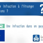 Infraction à l'étranger, amende et perte de points
