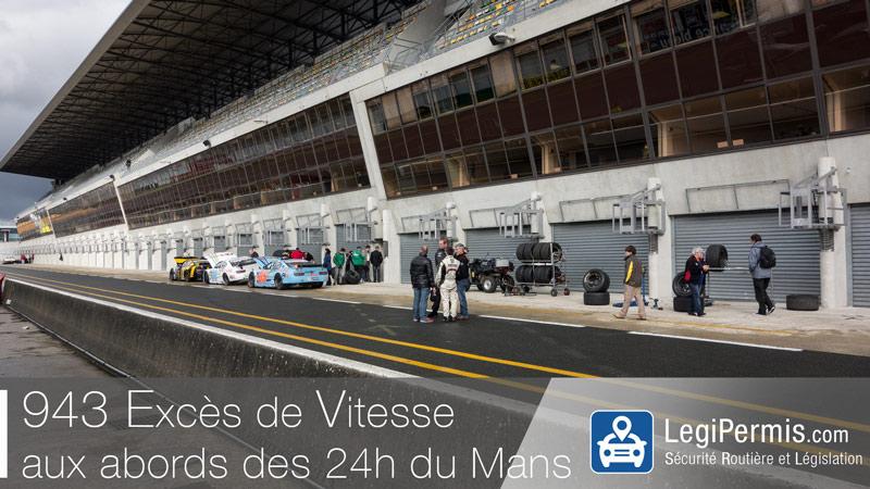 943 excès de vitesse à l'occasion des 24h du Mans