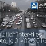 Moto : la circulation inter-files autorisée, le 01/02/2016 dans 4 zones de France