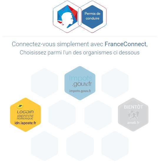 connexion site france connect,solde des points du permis de conduire