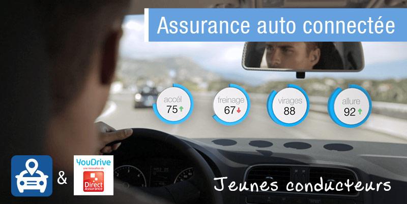 assurance auto connectée et jeune conducteur