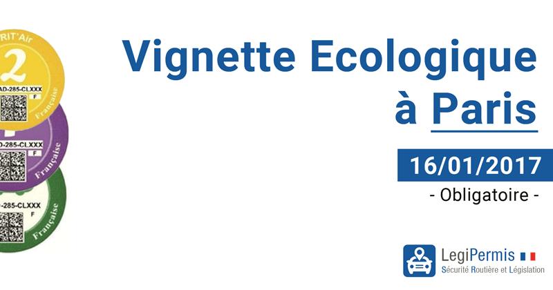 Vignette écologique à Paris 16/01/2017