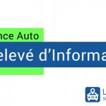 Relevé d'information assurance auto