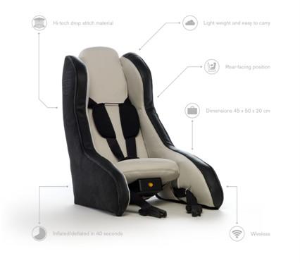 Le siège bébé gonflable, pratique et léger signé Volvo
