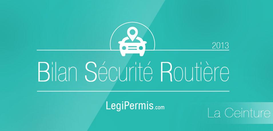 La ceinture – Bilan de la sécurité routière 2013