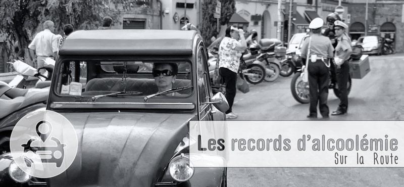 Les records d'alcoolémie sur la route