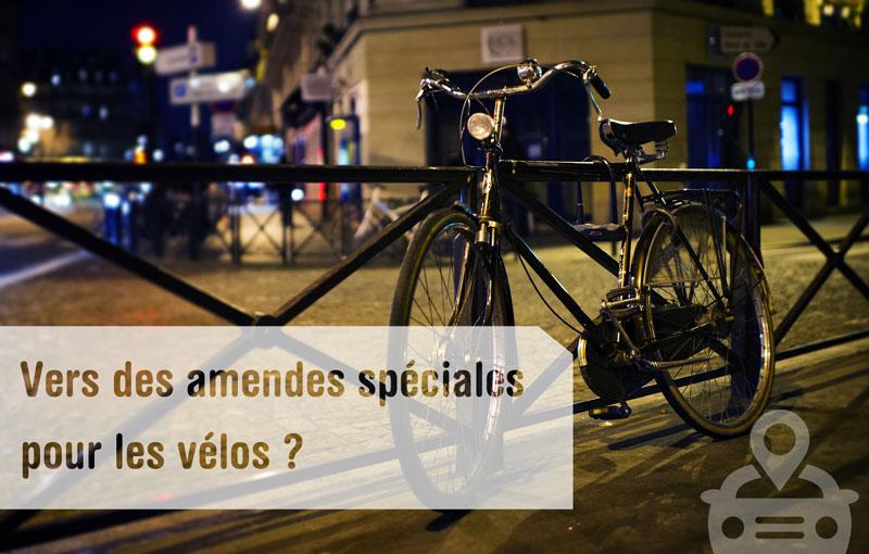 Des amendes spéciales pour les vélos