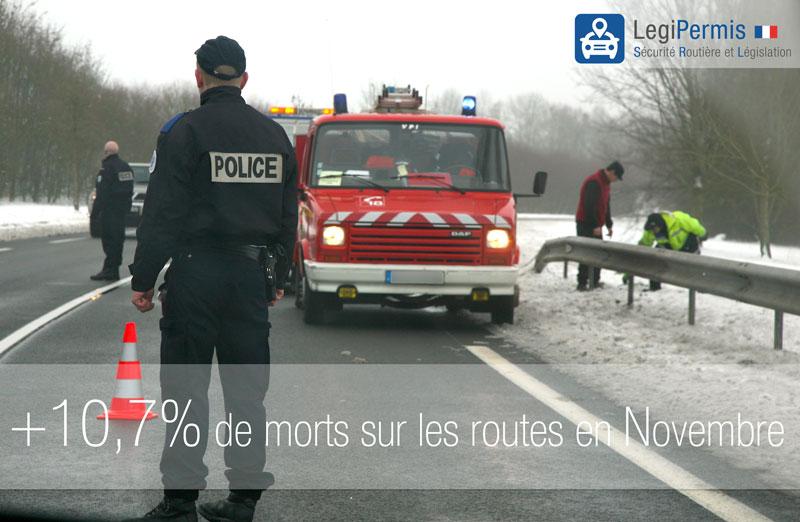 +10,7% de morts sur les routes en Novembre 2014