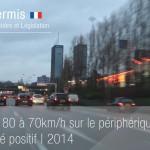 Résultat du passage à 70km/h sur le périphérique à Paris