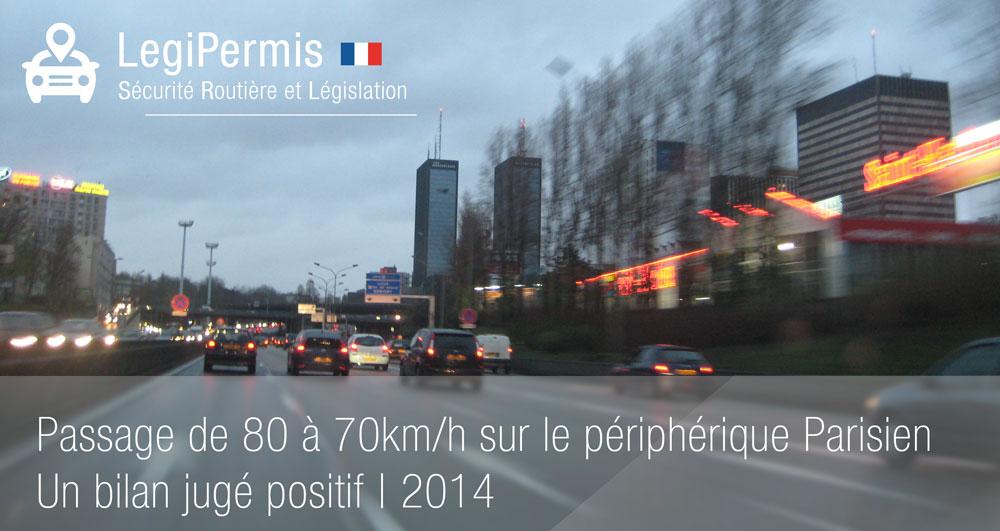 passage de 80 à 70km/h bilan positif à paris