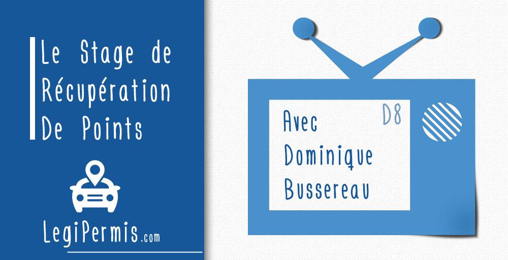 Dominique Bussereau fait un stage de récupération de points sur D8