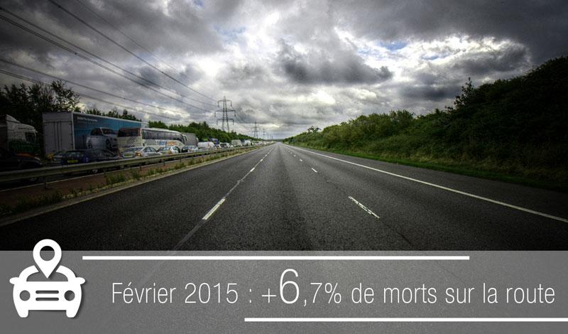 Mauvais bilan en matière de sécurité routière en février 2015