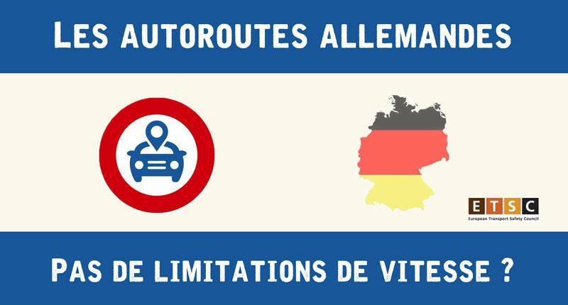 Limitation de vitesse en Allemagne les chiffres