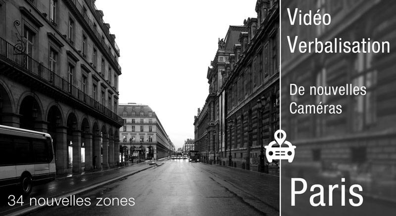 vidéo verbalisation Caméra vidéo à paris liste des rues
