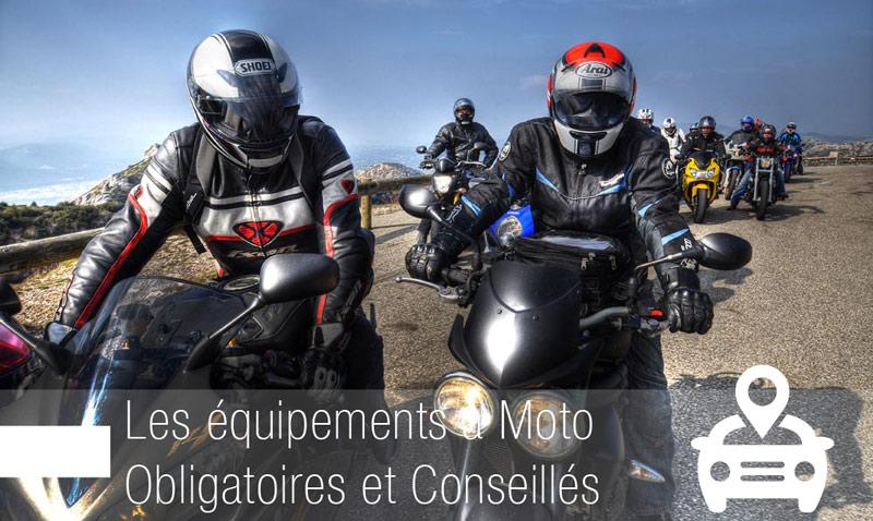 équipements obligatoires à moto