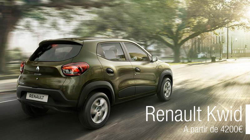 renault kwid 4200 bient t en france legipermis. Black Bedroom Furniture Sets. Home Design Ideas