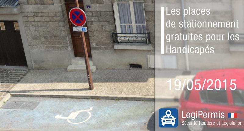 Le stationnement pour les handicapés devient gratuit