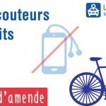 Interdiction des écouteurs en vélo, des amendes possibles