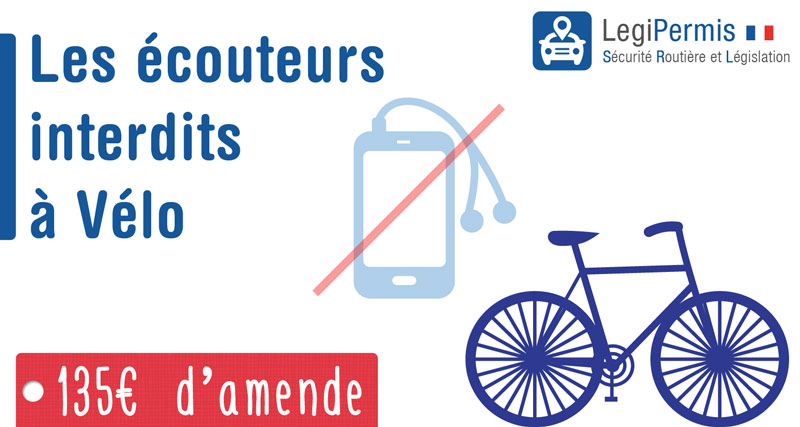 interdiction des écouteurs à vélo