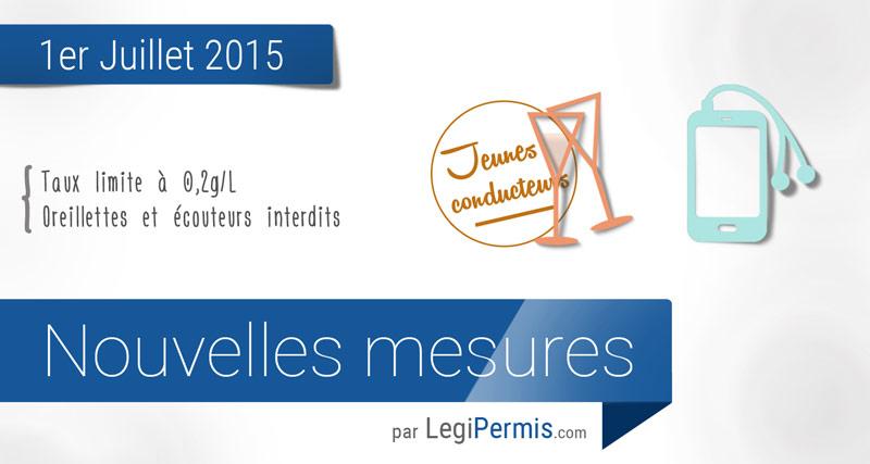 1er juillet 2015 : les changements sur la route