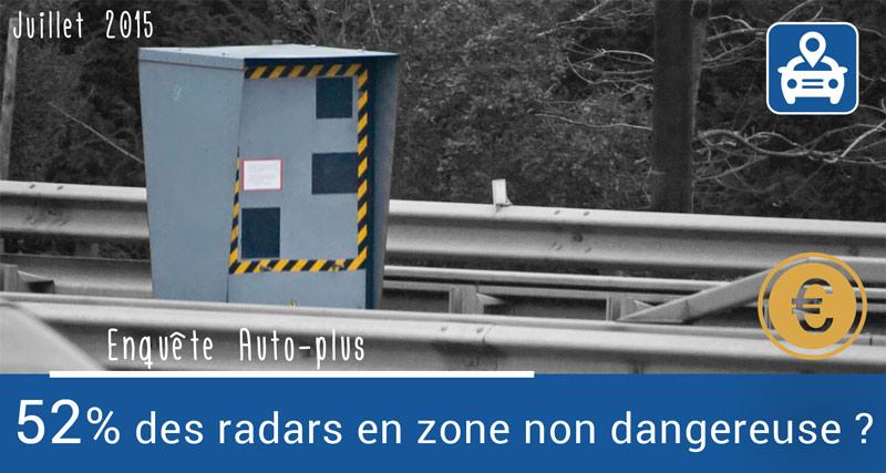 52% des radars en zone non dangereuse