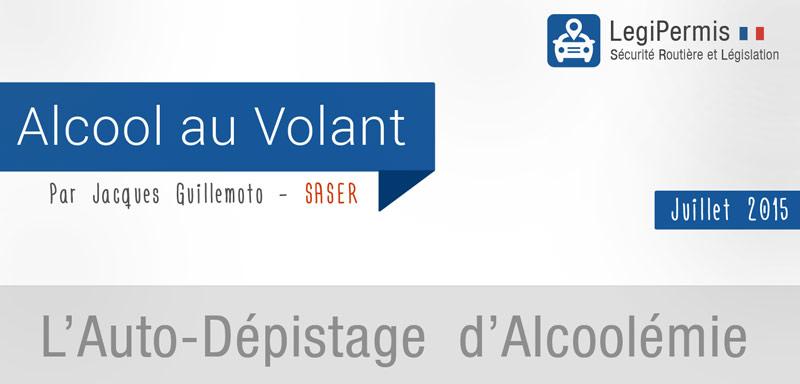 auto-dépistage contre l'alcoolémie au volant