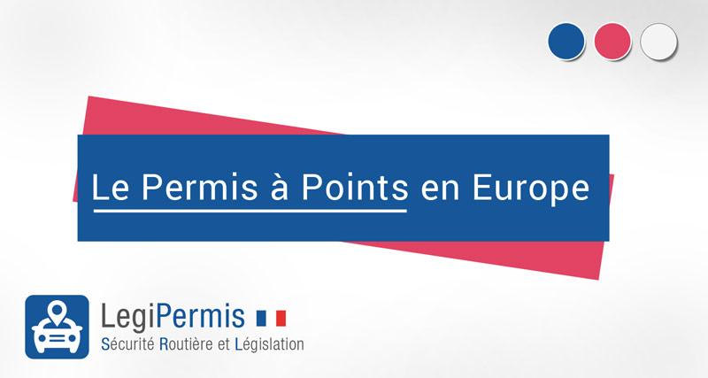 le permis à points dans l'union européenne