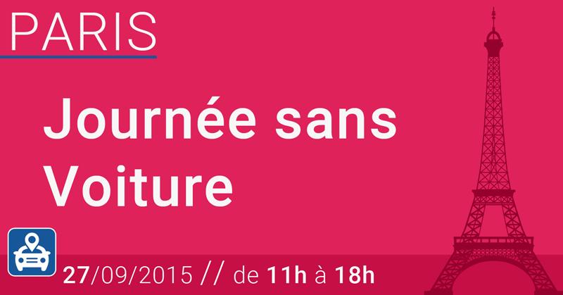 Journée sans voiture à Paris le 27/09, quelles zones ?