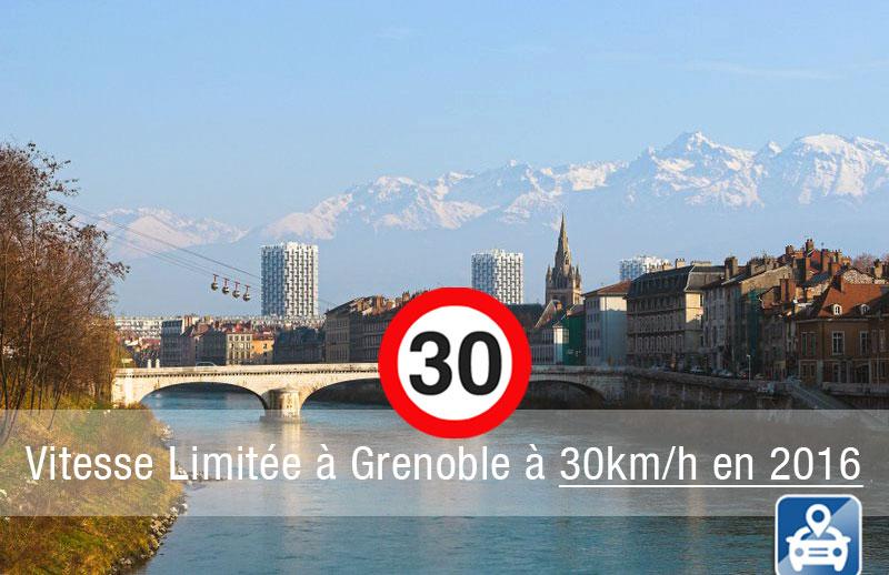 Limitation de vitesse à 30km/h à Grenoble en 2016