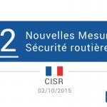 Les 22 mesures du CISR du 02/10/2015 pour la sécurité routière