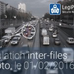 Moto : la circulation inter-files autorisée, le 01/02/2016 dans 4 zones de France