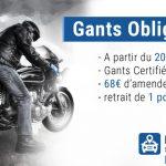 Gants obligatoire à moto à partir du 20/11/2016