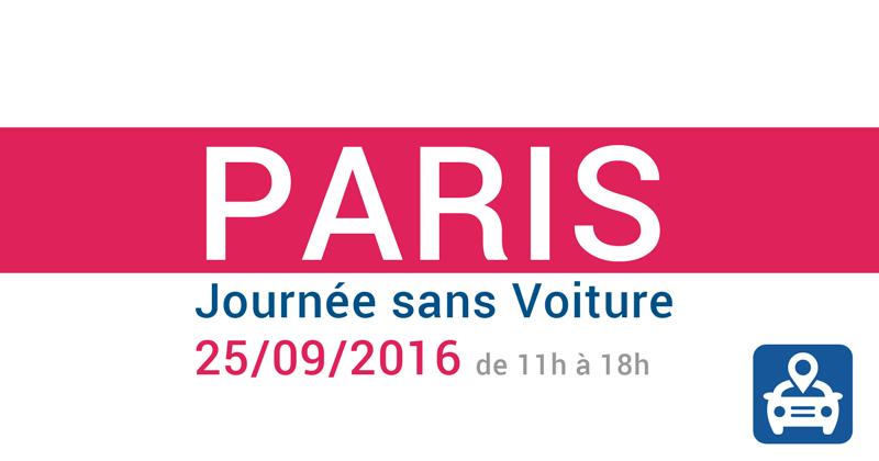 Paris - journée sans voiture le 25/09/2016