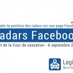 Avertir les radars sur Facebook n'est plus interdit