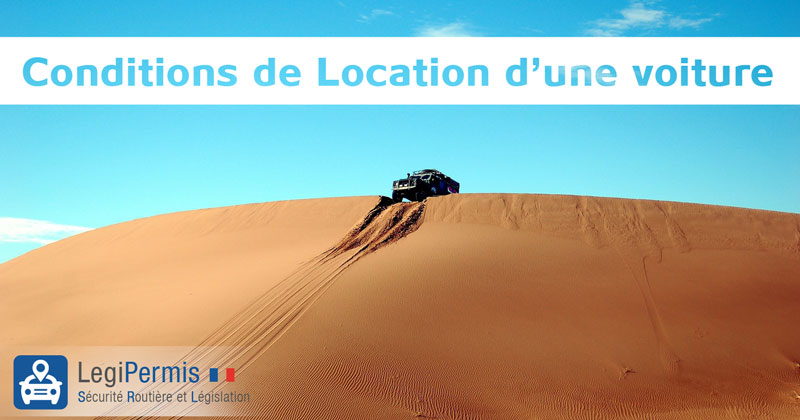 Conditions de location d'une voiture