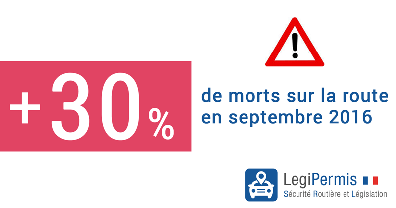 mortalité routière septembre 2016 hausse 30%