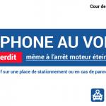 Le téléphone au volant est interdit à l'arrêt