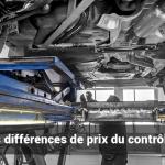 Les différences de prix du contrôle technique en France