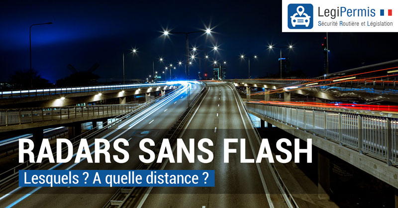 Radar sans flash : fixes, mobiles, feu rouge