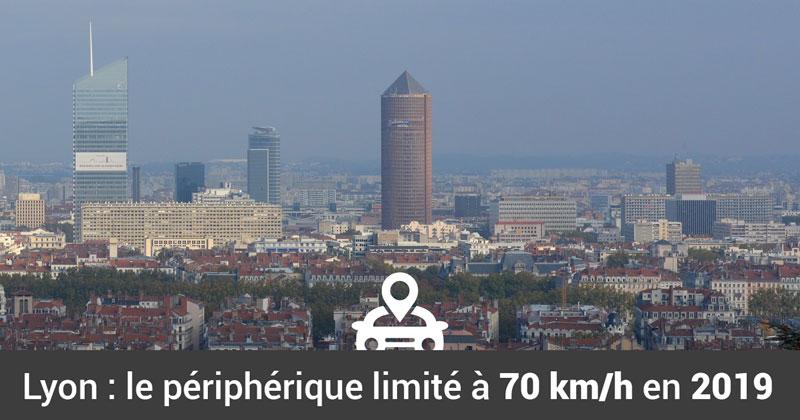 Lyon : limitation de vitesse à 70 km/h en 2019 sur le périphérique