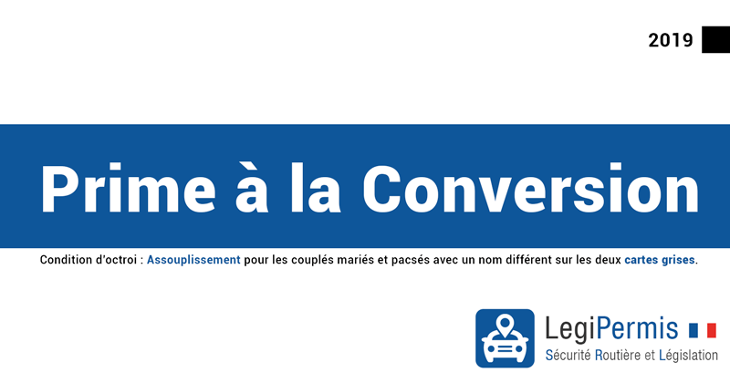 Prime à la conversion : condition d'acceptation carte grise avec noms différents