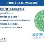 Prime à la conversion : ce qui change au 1er Août 2019
