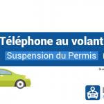 Téléphone au volant : le retrait de permis possible