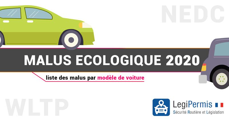 malus écologique 2020 : liste des voitures avec leur malus