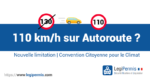 limitation à 110km/h sur autoroute, convention citoyenne