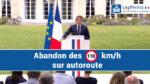 abandon de la limitation des 110 km/h sur autoroute